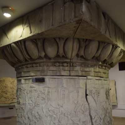 The Bucharest History Museum : the Trajan Column, from Roman Empire.