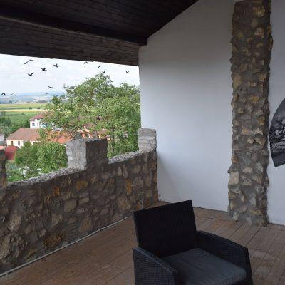Castelul Lupilor, proche de Deva, vue de la chambre.
