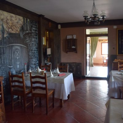 The dining room of Lupilor Castle, close to Deva.