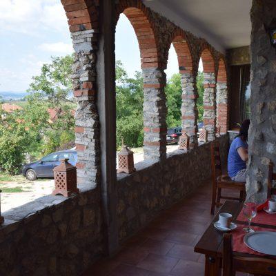 The terrace of Lupilor Castle, close to Deva.