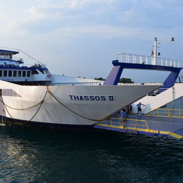 Le ferry de Thassos.