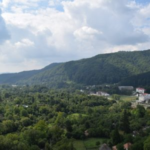 View upon the valley, from Arnota monastery, Valcea county.