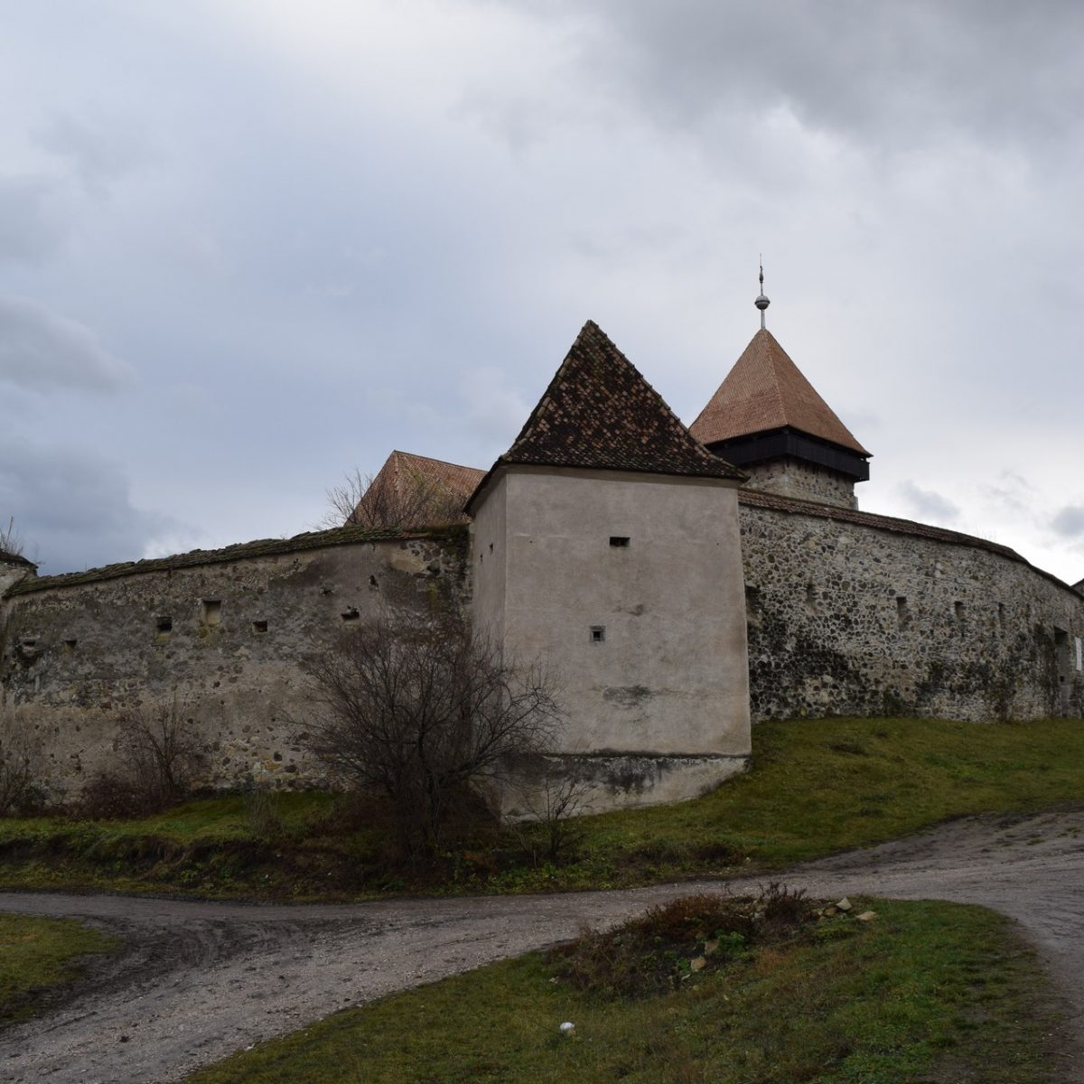 Fortified church of Drauseni, Harghita county.