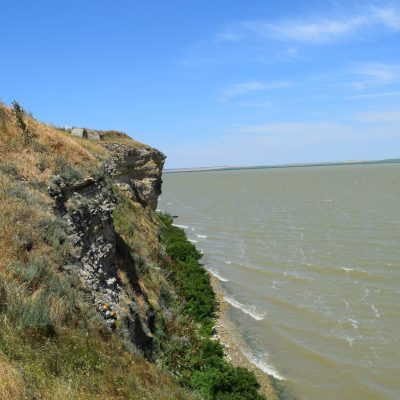Vue sur le lac Razim, de la citadelle Argamum.