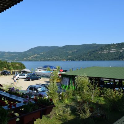 View on the Danube from our room, to the Danubia Pension.