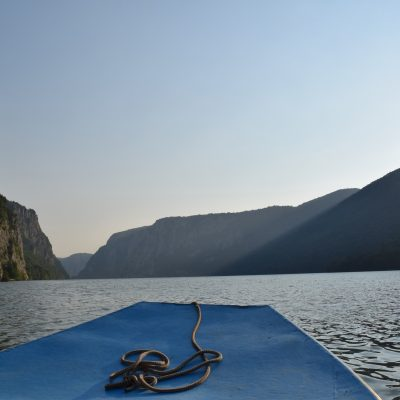 On the Danube close to the Decebal face, in Mehedinti.