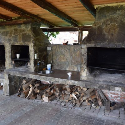 The wood ovens of the Danubia Pension.