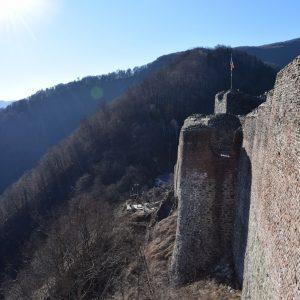 La citadelle Poienari, dans l'Arges.
