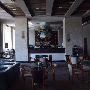 The hall of Balvanyos Hotel.