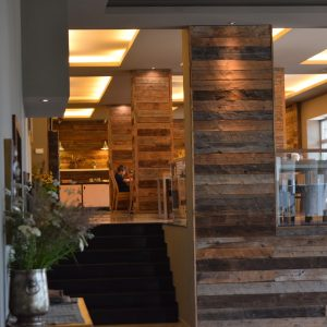 The restaurant of Balvanyos Hotel.