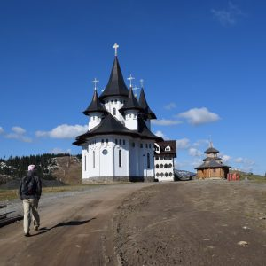 The church, pass behind to go toward Stiol Lake.