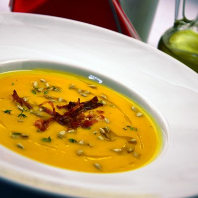 Pumpkin soup from GUXT Bistro.