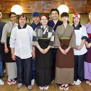 L'équipe de restaurant Yuki.