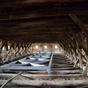 Fortified church of Saschiz village, its attic.