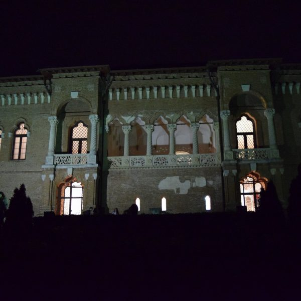Th Mogosoaia Palace, by night.