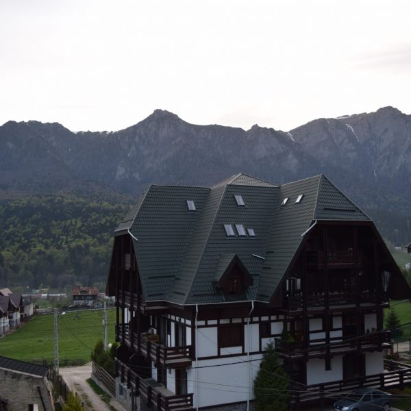 Villa Surya and its view upon Bucegi mountains.