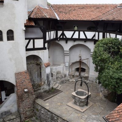 The Bran castle, its courtyard.