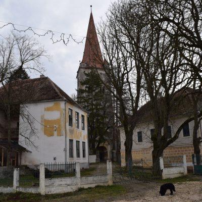 Voyage en Roumanie, église fortifiée de Cincu.