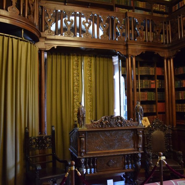 Cotroceni palace. The library of King Ferdinand I.