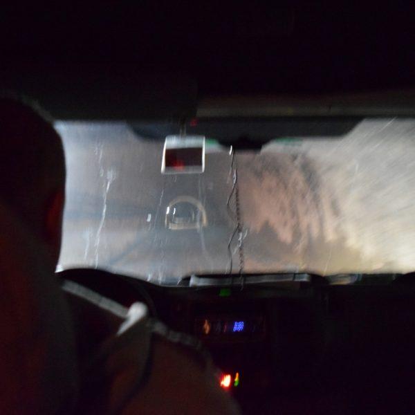 Dans le minibus, en direction des salines de Slanic Prahova.