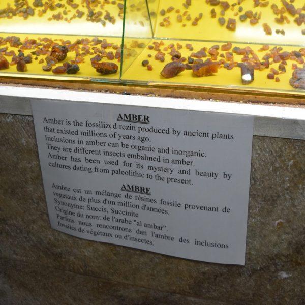 Exposition d'ambres aux salines de Slanic Prahova.