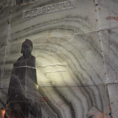 Une statue des salines de Slanic Prahova.