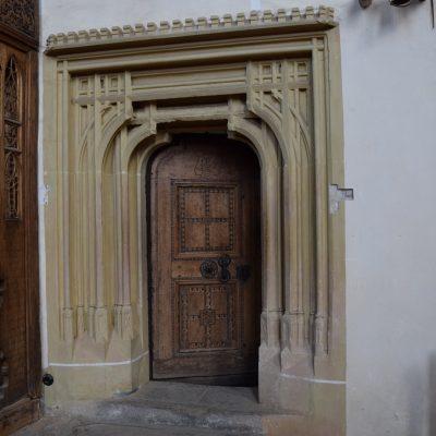 L'église fortifiée de Biertan. La porte du choeur.