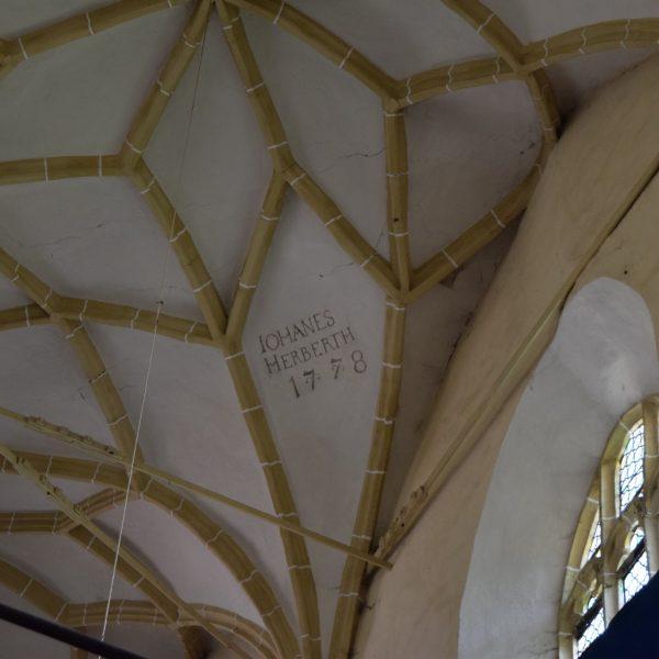 L'église fortifiée de Biertan. La voute.