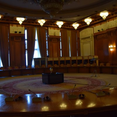 One of the most important rooms of the Palace of Parliament.
