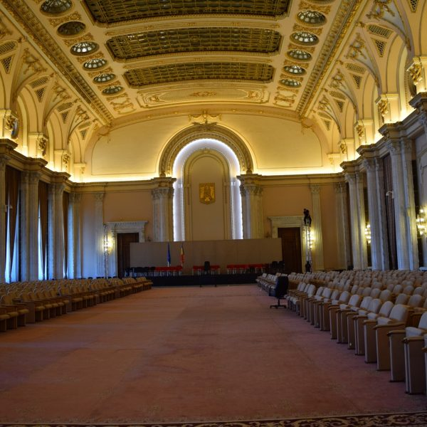 The largest hall of the Palace of Parliament.