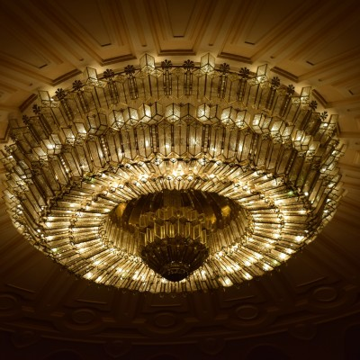 Chandelier of the Palace of Parliament.