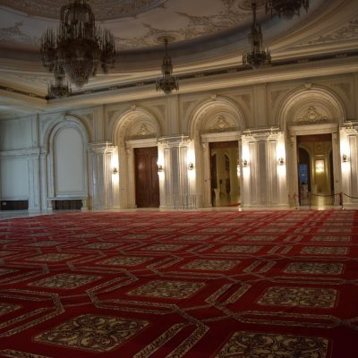 Inside the Palace of Parliament.