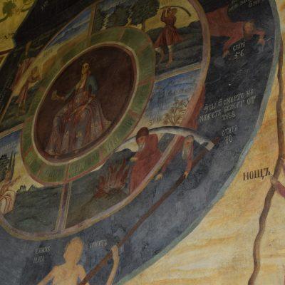 Fresques exterieures de l'eglise du monastere preobrajenski