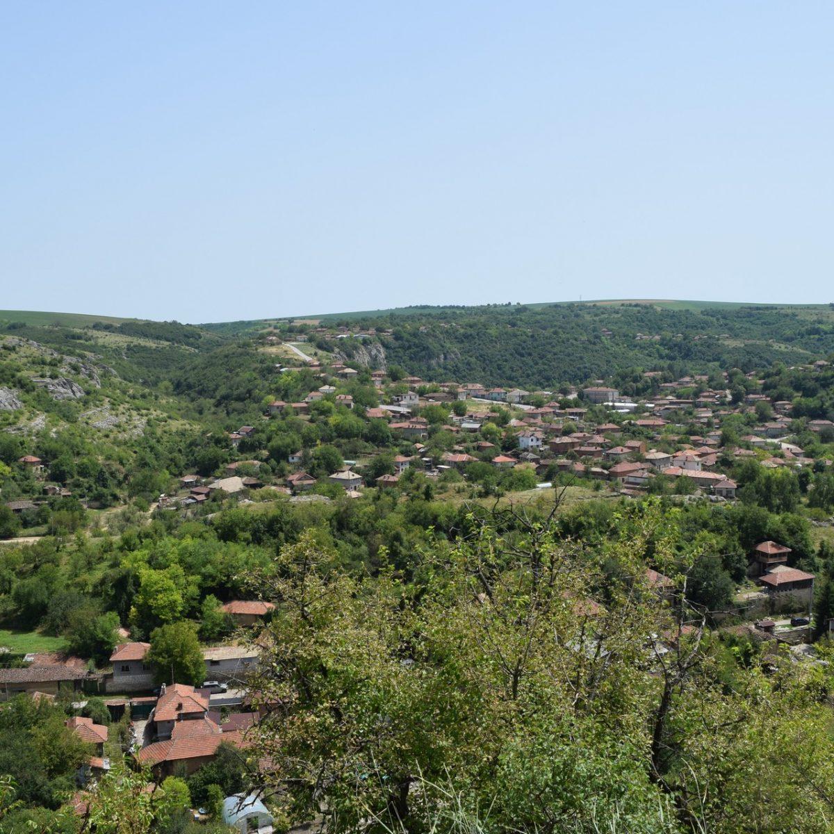 Vue sur le village de la Citadelle Cherven.