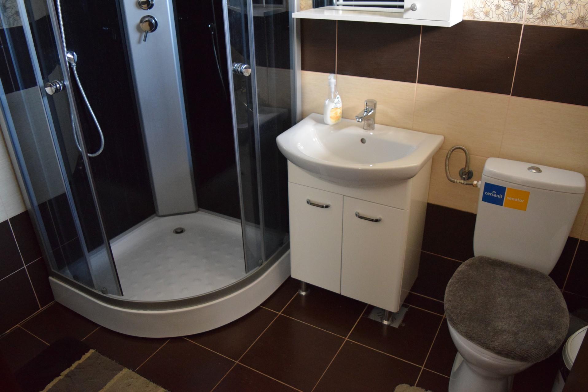 Salle de bain de la Pension Scarisoara